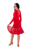 Red Bell Latin & Rhythm Skirt - Where to Buy Dancewear SM Dance Fashion Competition Outfit Costume