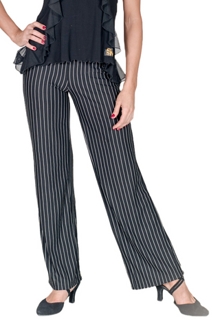 Straight Leg Pin Stripe Trousers