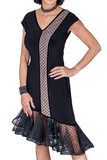 Asymmetrical Layered Mesh Polka Dote Latin & Rhythm Dress - Where to Buy Dancewear SM Dance Fashion Competition Outfit Costume