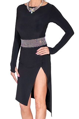 Bodycon Long Sleeve Latin & Rhythm Dress - Where to Buy Dancewear SM Dance Fashion Competition Outfit Costume