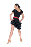 Asymmetrical Layered Frill Latin & Rythm Skirt - Where to Buy Dancewear SM Dance Fashion Competition Outfit Costume