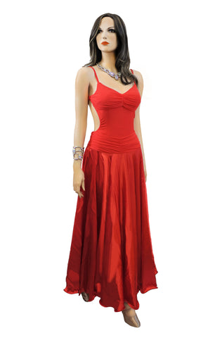 Red Performance Dress - Where to Buy Dancewear SM Dance Fashion Competition Outfit Costume