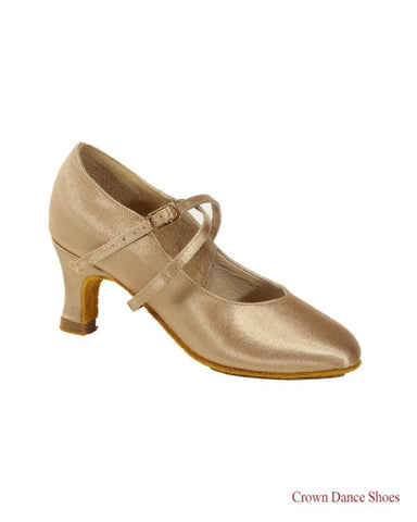 CROWN Dance Shoes Standard Ballroom Crown Dance Shoes-Side View | SM Dance Fashion