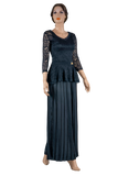 Rhinestone Pleated Wide Ballroom & Smooth Trousers-Front View | SM Dance Fashion