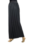 Rhinestone Pleated Wide Ballroom & Smooth Trousers-Back Bottom View | SM Dance Fashion