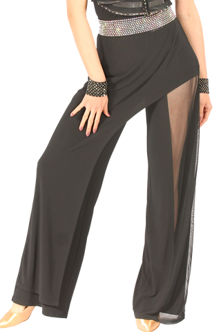 Asymmetrical Transparent Trousers - Where to Buy Dancewear SM Dance Fashion Competition Outfit Costume