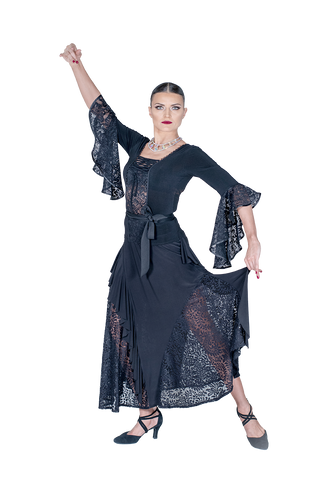 Lace Up Flounce Blouse - Where to Buy Dancewear SM Dance Fashion Competition Outfit Costume