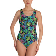 Marijuana One-Piece Swimsuit