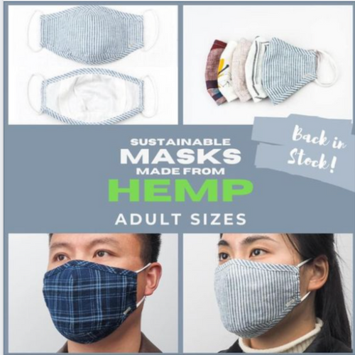 5-pack Hemp Masks