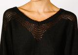 Opal Hemp + Organic Cotton Sweater in Black.