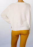 Wendy Crop Hemp + Organic Cotton Sweater in Cream.
