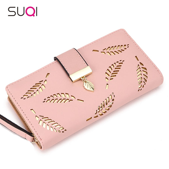Gold Hollow Leaves Wallet