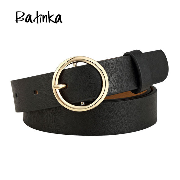 New Gold Round Metal Circle Belt