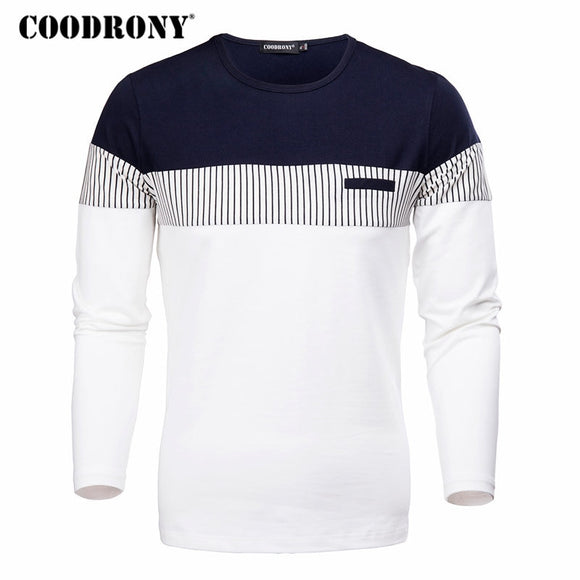 COODRONY T-Shirt Long Sleeve, S-4xl