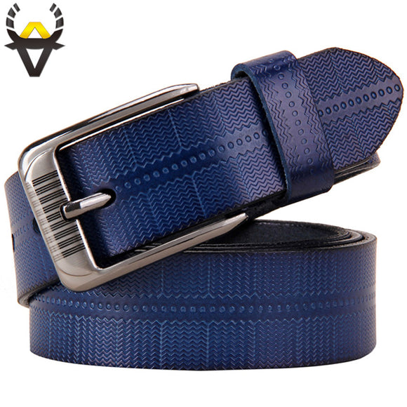 Pin buckle belt, High quality Cowskin strap