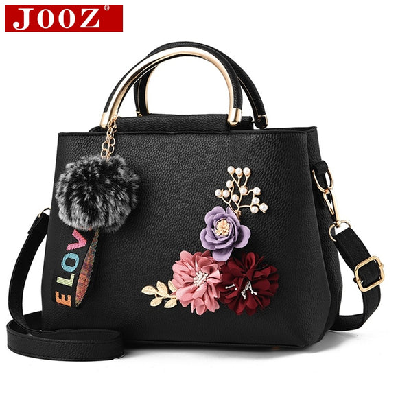 Flowers shell Leather Clutch Bag