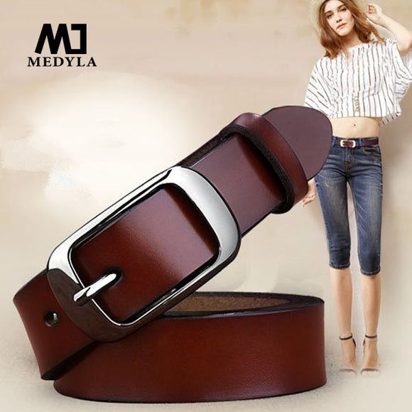 Women's cowhide casual belt