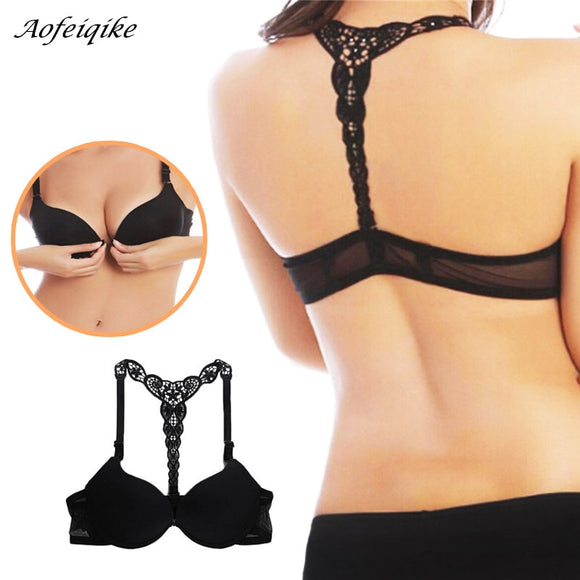 Charming Lace Racer Back Push Up Bra