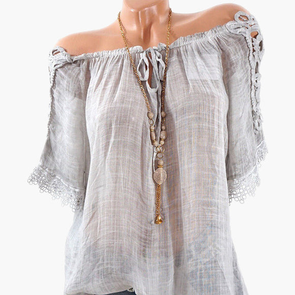 Crochet Lace Summer Blouse
