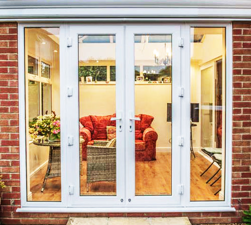 Double French Doors with Fixed (Left & Right) Sidelites