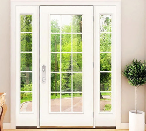 Single French Door with Fixed (Left & Right) Sidelites