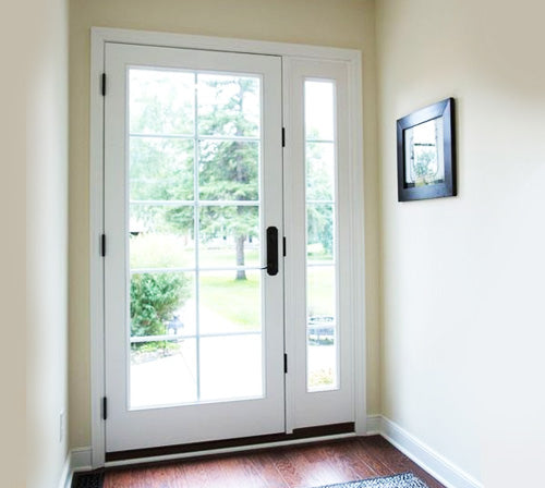 Single French Door with Fixed (Left or Right) Sidelite