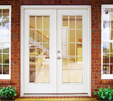 Double French Doors with no (Left or Right) Sidelites