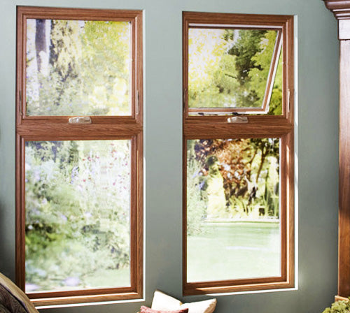 Luxury Frame Double Casement Window with Awning Window at Top or Bottom