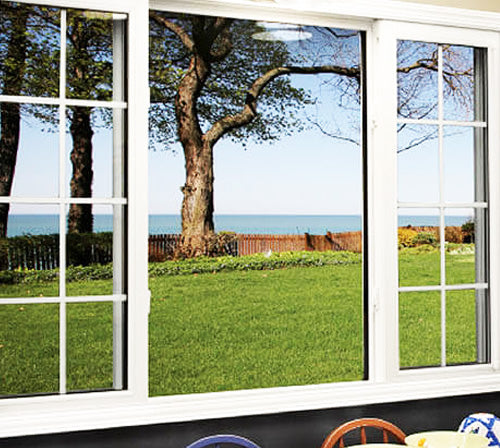Imperial Frame Sliding Window with Stationary Center Window