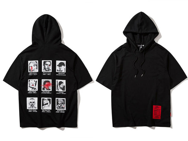 SERIAL KILLER SHORT SLEEVE HOODIE