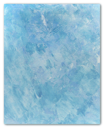Icy Blue Monoprint I - cross stitch fabric size 16 x 20 inches