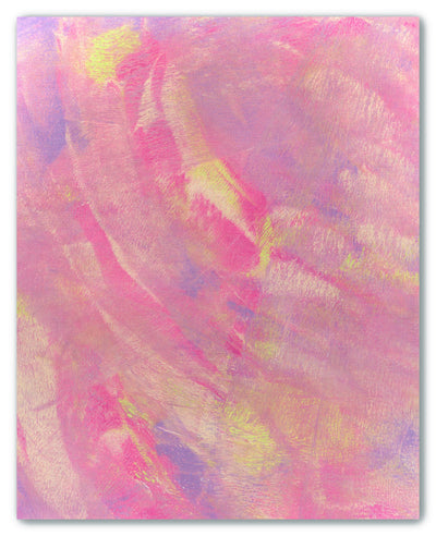 Pink and Purple Monoprint IV - cross stitch fabric size 16 x 20 inches