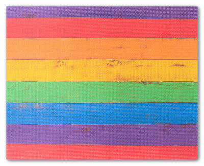 Rainbow Wood - cross stitch fabric size 16 x 20 inches