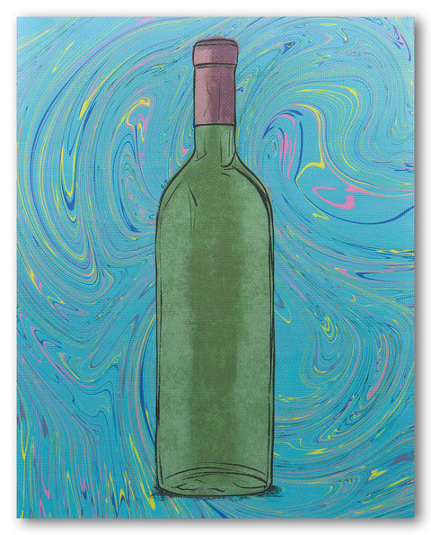 Wine Bottle - fabric size 16 x 20 inches