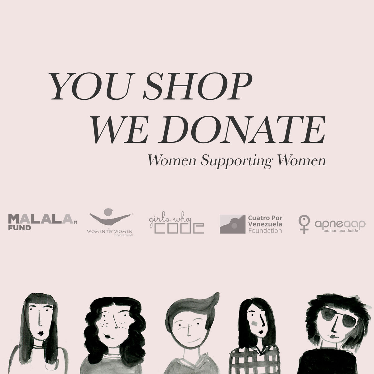 Sosi Leone Socially Conscious, Fashion with purpose, Online Shop Women Supporting Women Malala Fund Women for Women international Girls who code, cuatro por venezuela, apneaap international, shop supporting women
