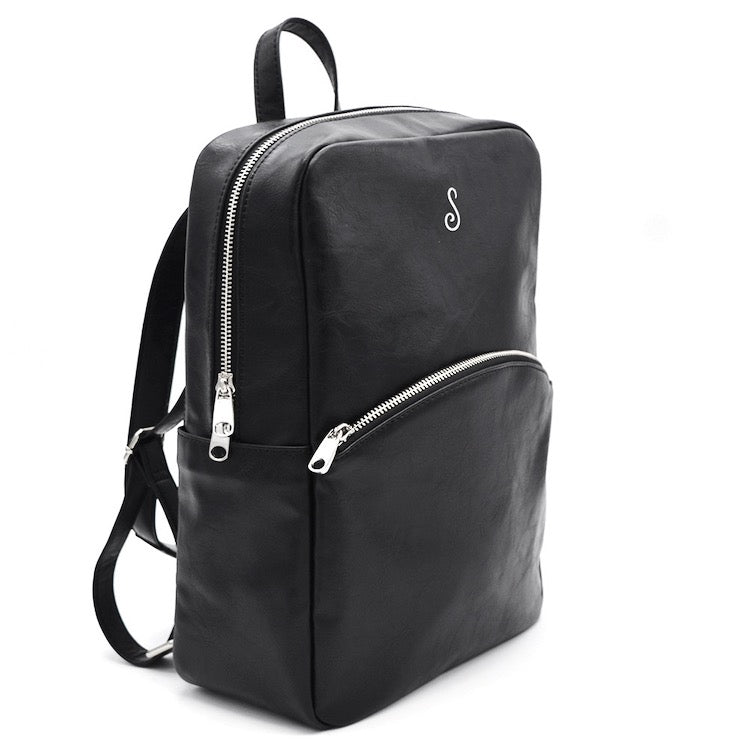 Multipurpose Convertible Backpack Black - Sosi Leone