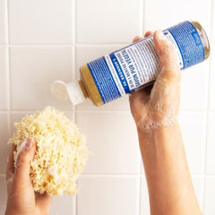 Dr. Bronner's Pure Castile Liquid Soap. 18-in-1, all-purpose, all-natural cleanser for your body, your home and your pets.