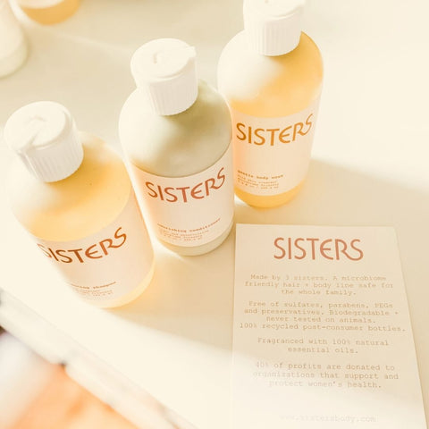 Sisters Hair and Body products collection is all natural, cruelty free and made in small batches by 3 sisters.