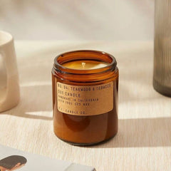 Teakwood & Tobacco Scented Soy Candle