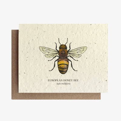 Honey Bee Plantable Seed Card