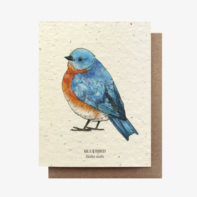 Bluebird Plantable Seed Card