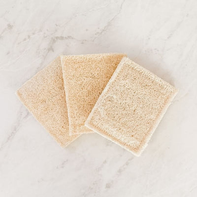 Natural Loofah Sponge - Set of 3