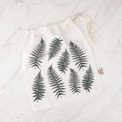 Medium Organic Cotton Reusable Produce Bag - Ferns