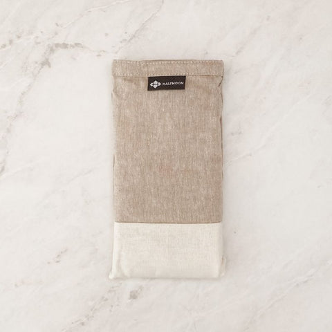 Linen Eye Pillow - Sand + Ivory - Lavender Scented