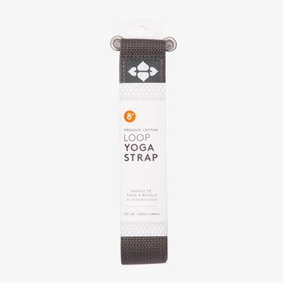 "8"" Organic Cotton Loop Strap - Charcoal"