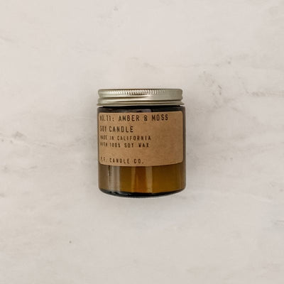 Mini Scented Soy Candle - Amber & Moss