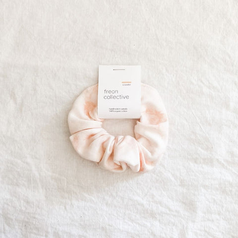 100% Organic Cotton Scrunchie - Blush Marble