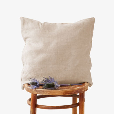 Washed Linen Cushion Cover - Natural