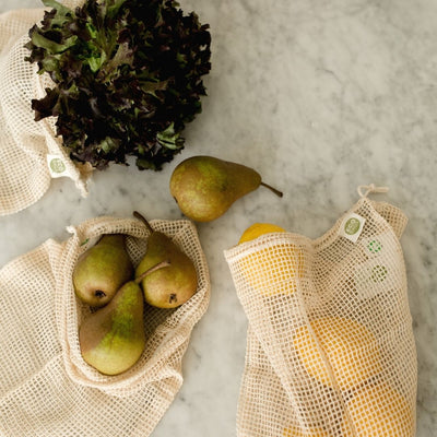 Organic Mesh Produce Bags Set of 3