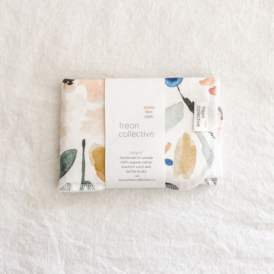 100% Organic Cotton Face Cloth - Sierra Florals